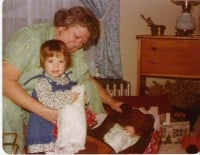 Gram Elsie with Amy June 1979