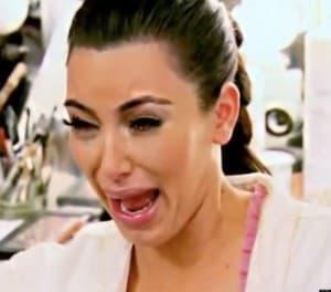 Kim Kardashian ugly cry
