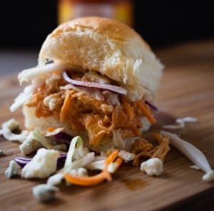 slow-cooker-buffalo-chicken-sliders-1