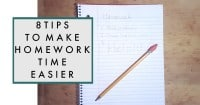 8 Tips to Make Homework Time Easier