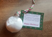 Last-minute Holiday DIY Gift – Peppermint-Lavender Foot Soak Ornament