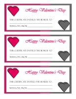 Valentine's Day Gift Certificate Printable