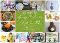 Kids Crafts and Activities for Spring and Easter Roundup