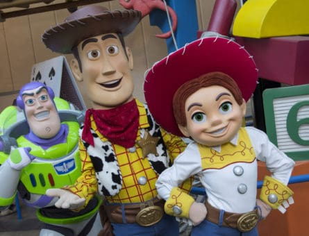 "BELOVED CHARACTERS COMING TO TOY STORY LAND AT WALT DISNEY WORLD RESORT (LAKE BUENA VISTA, Fla.) – Buzz Lightyear, Sheriff Woody and Jessie the Yodeling Cowgirl from Disney•Pixar's ""Toy Story"" films will interact with guests in the new Toy Story Land when it opens June 30 at Disney's Hollywood Studios in Lake Buena Vista, Fla. This new 11-acre land will transport Walt Disney World guests into the adventurous outdoors of Andy's backyard where they will feel like they have shrunk to the size of a toy. (David Roark, photographer)"