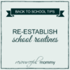 reestablish routines