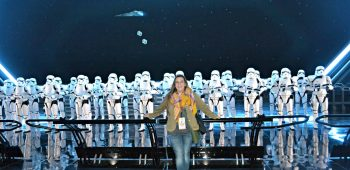Just a resourceful mom and some stormtroopers, hanging out.