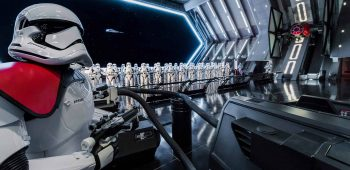 Disney guests will traverse the corridors of a Star Destroyer and join an epic battle between the First Order and the Resistance - including a face-off with Kylo Ren - when Star Wars: Rise of the Resistance opens Dec. 5, 2019 at Walt Disney World Resort in Florida and Jan. 17, 2020 at Disneyland Resort in California. At 14 acres each, Star Wars: Galaxy's Edge at Disneyland Park and Disney's Hollywood Studios is Disney's largest single-themed land expansion ever. (Joshua Sudock/Disney Parks)