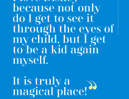 """""""I love Disney because not only do I get to see it through the eyes of my child, but I get to be a kid again myself. It is truly a magical place!"""" - @heatherslg"""